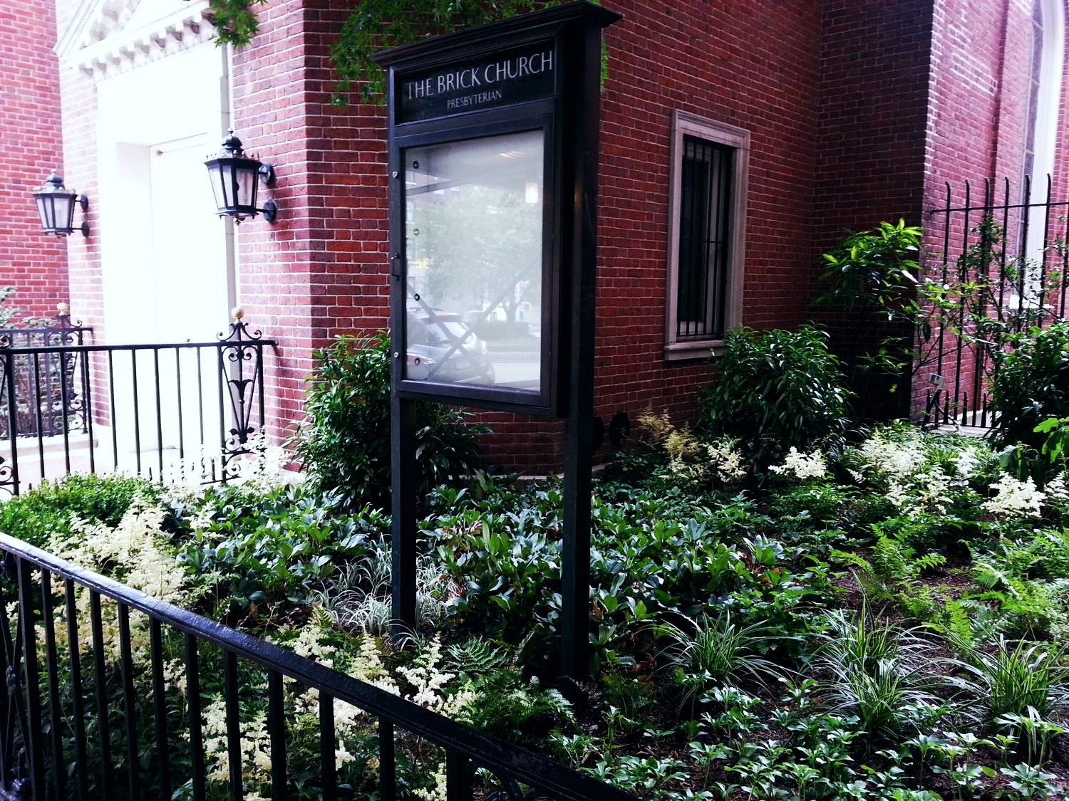 Brick Presbyterian Church, Park Ave entry - installed 2014