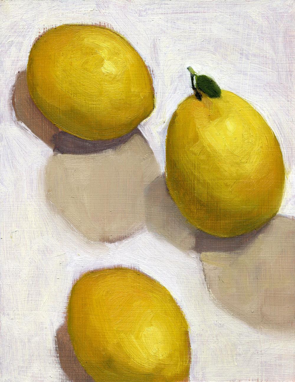 Three Lemons and a Leaf