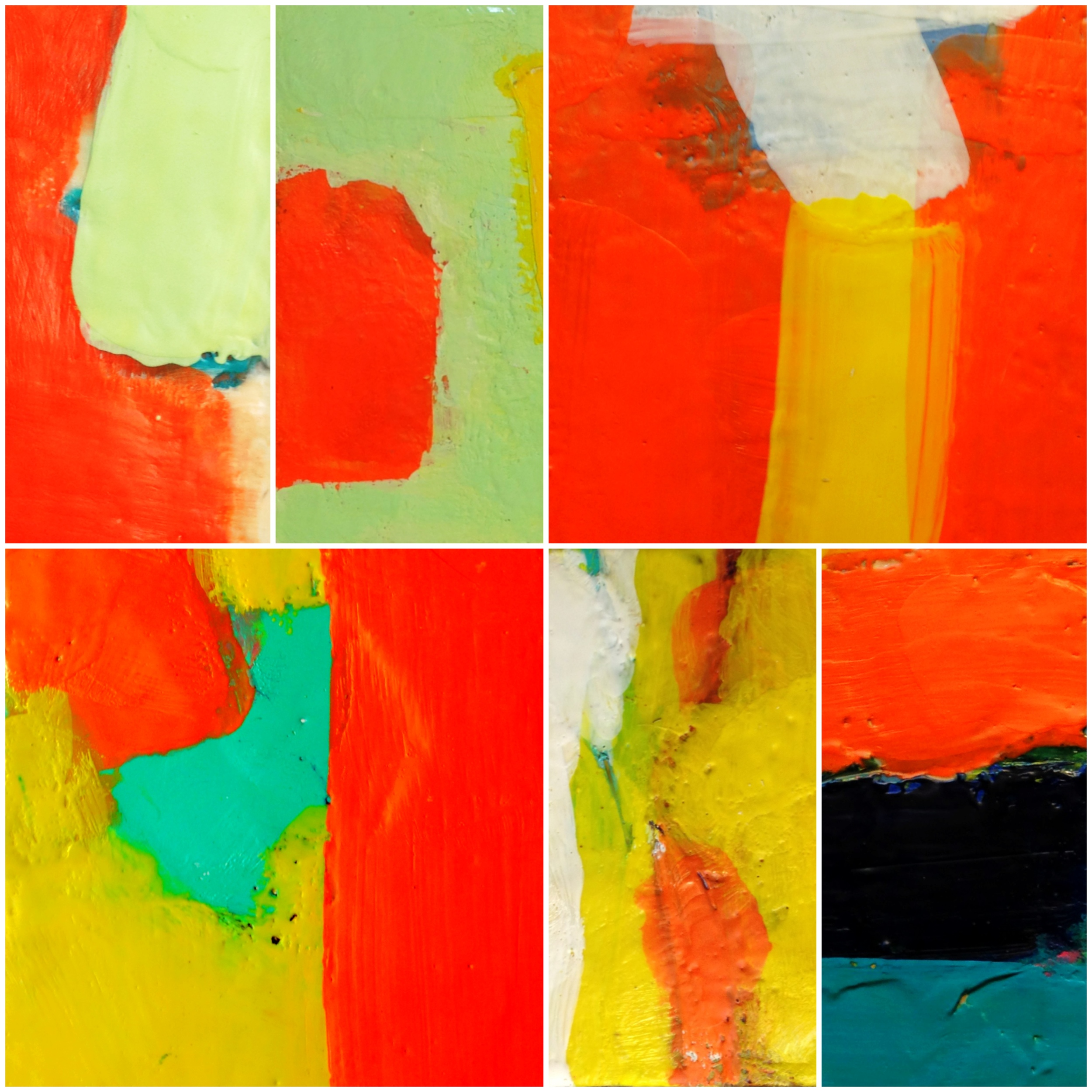 Photo collage of my encaustic paintings
