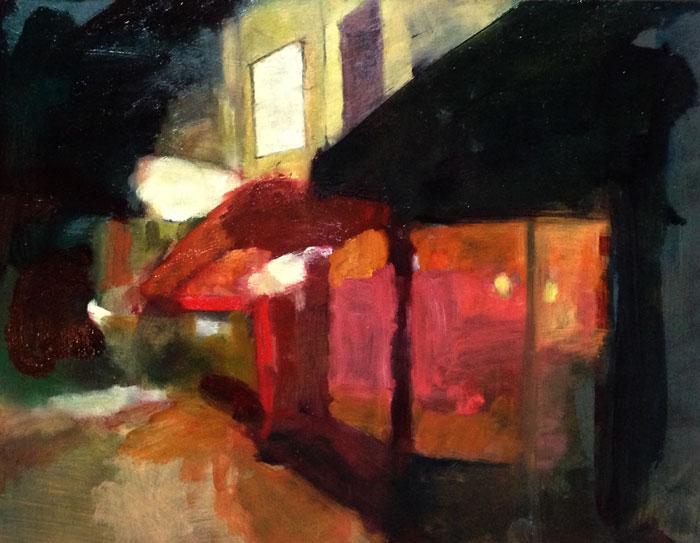 Lara Hoke, Oakland Nightscape Study