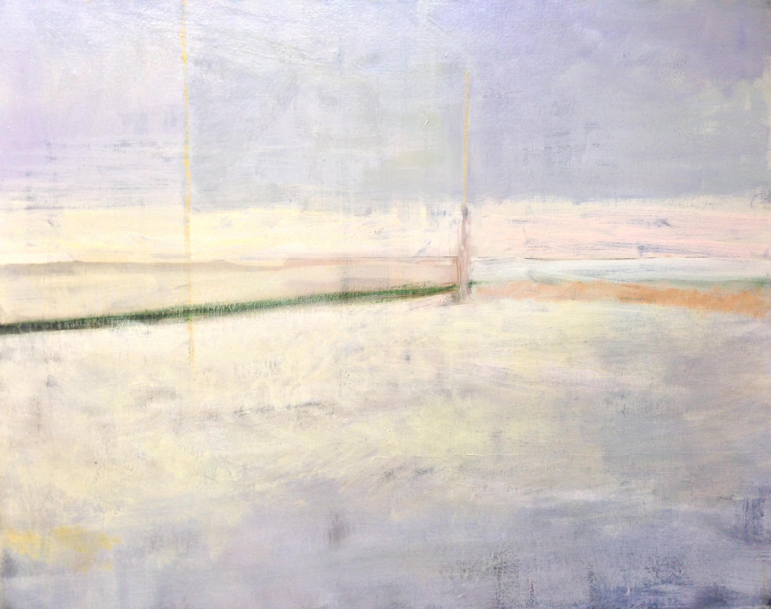 """Iowa Snowscape, oil on canvas, 20 x 30"""""""