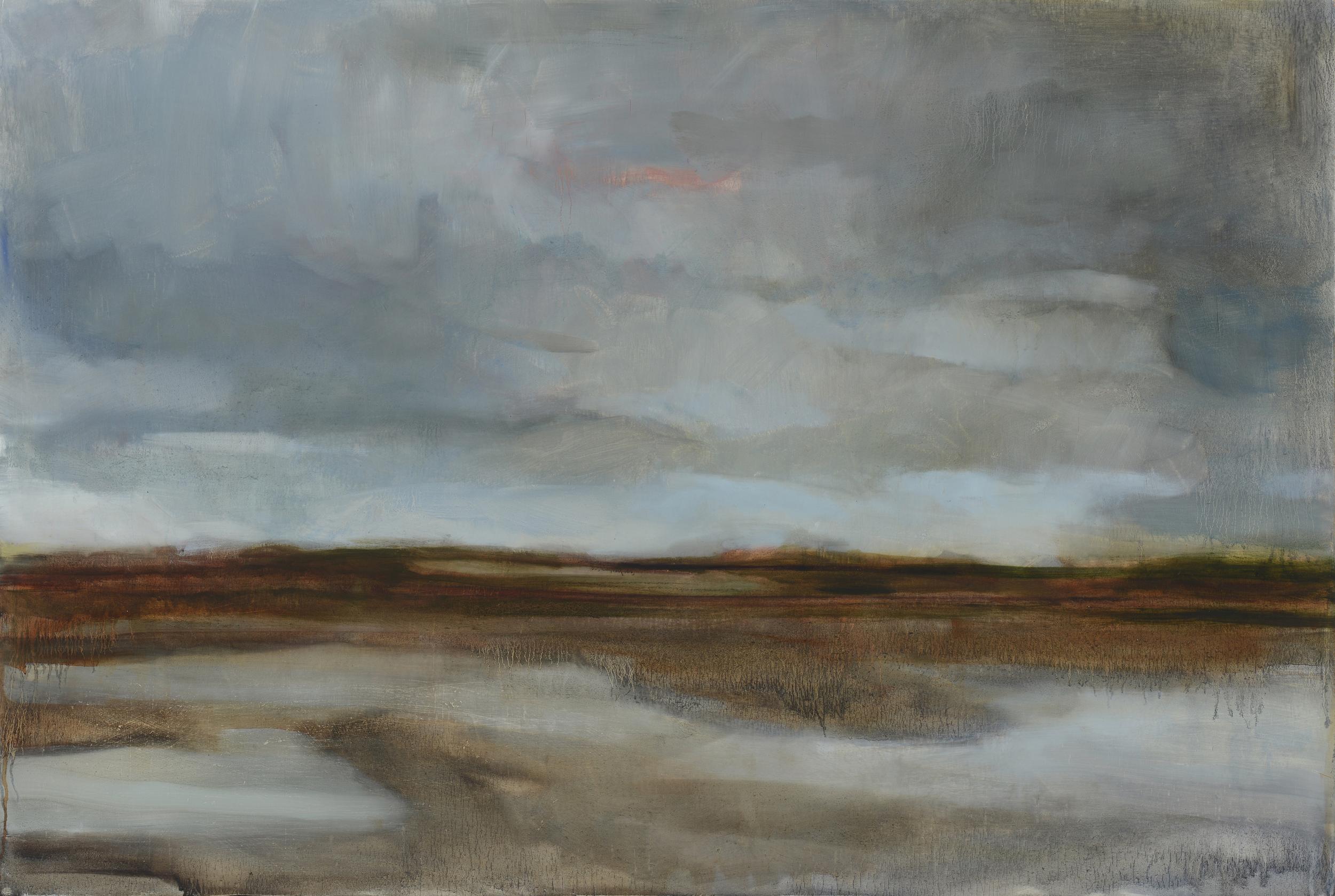 "Hoke, South Bay, 2014, oil on panel 36 x 48"""