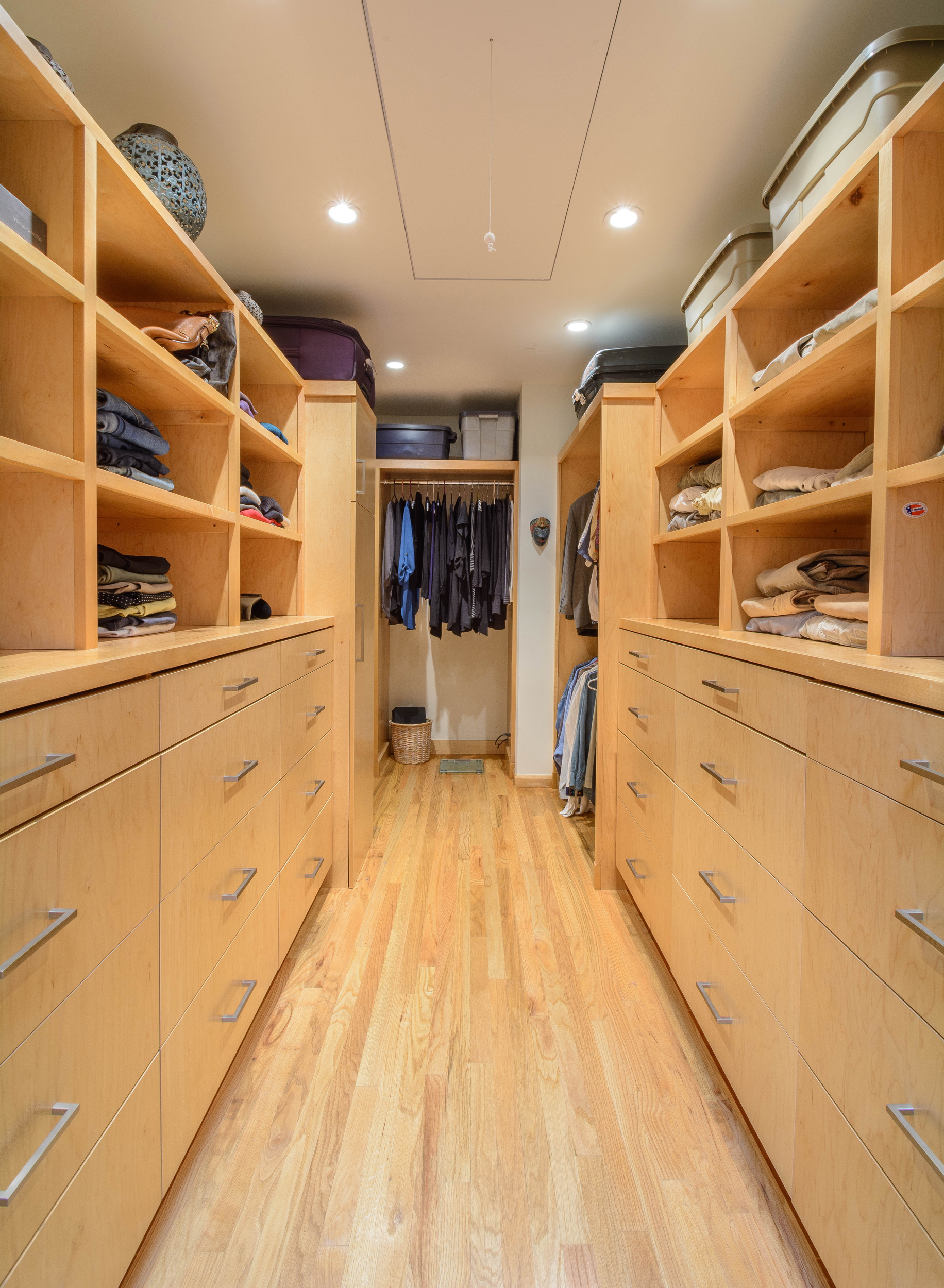 The master suite addition includes this large walk in closet