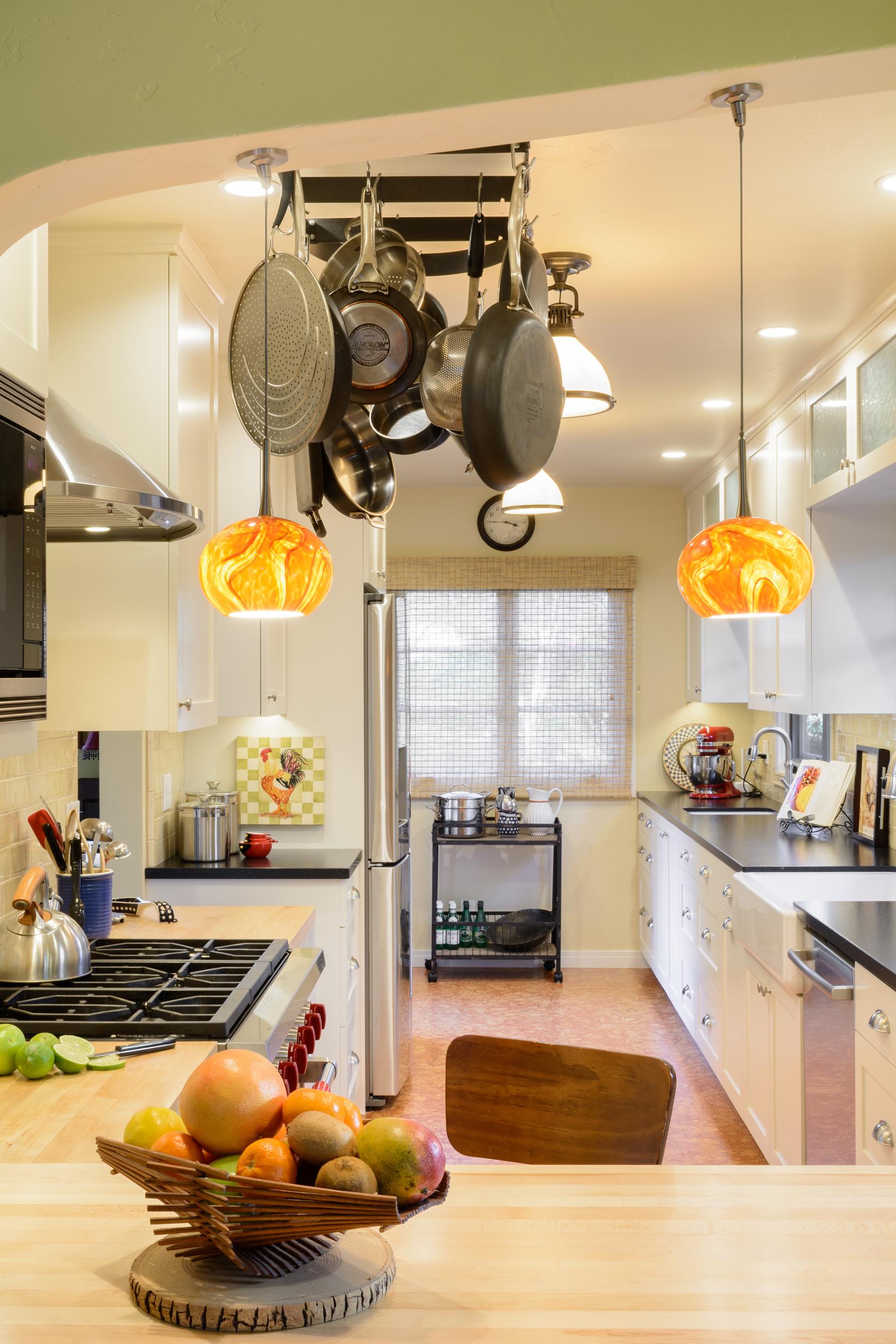 Bright and warm old world kitchen