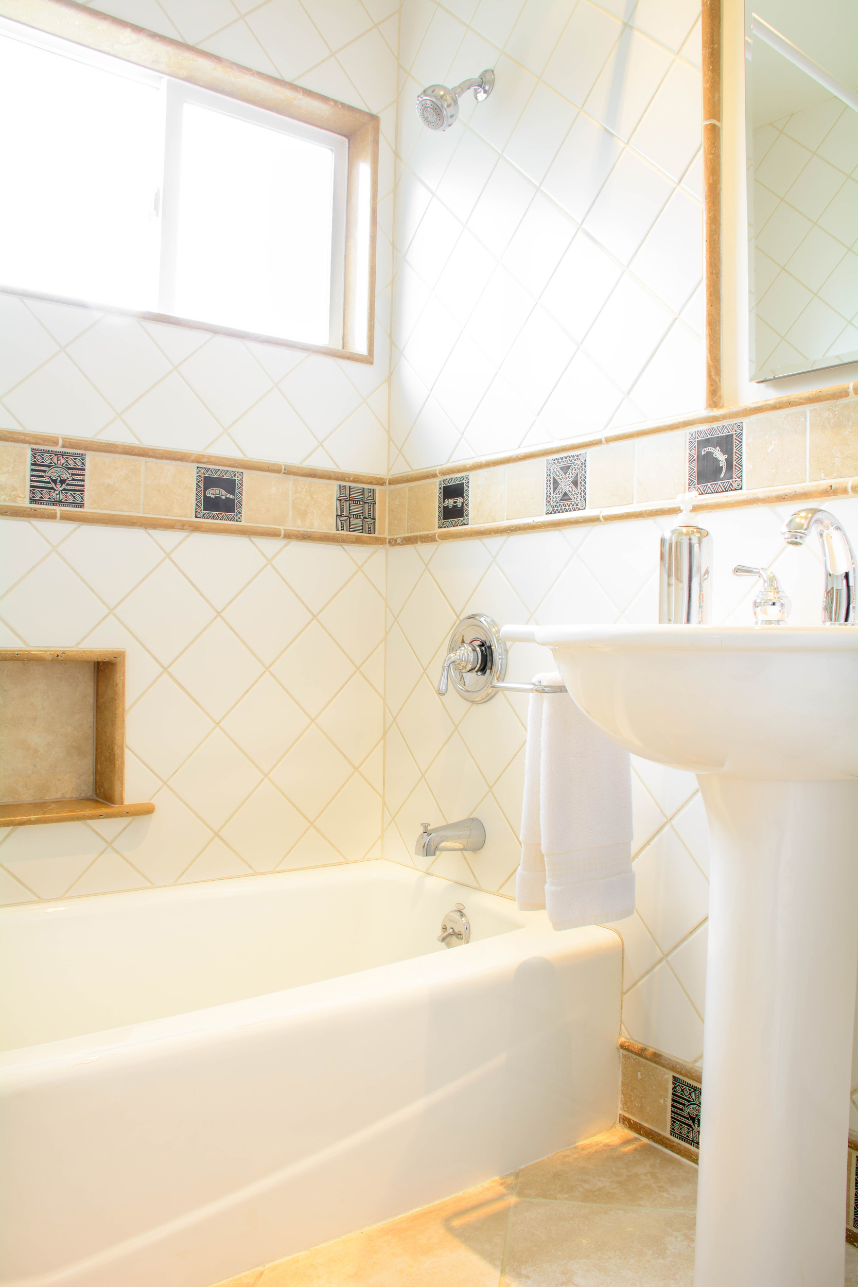 Claremont bathroom remodel: pedestal sink