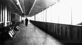Titanic's 550 foot Promenade Deck