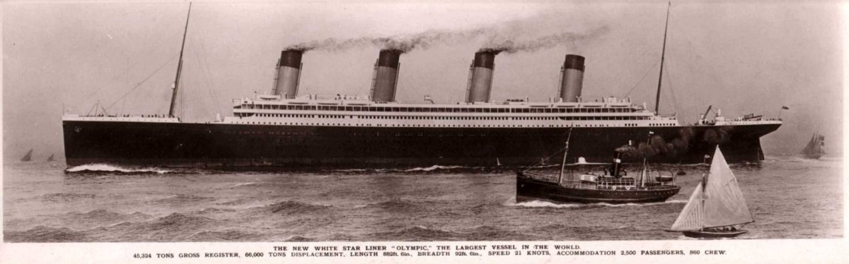 It must be remembered that Olympic was also the biggest liner in the world. Until Titanic was launched of course.