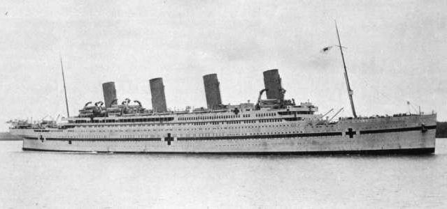 Britannic was refitted as floating hospital for service during world war one.
