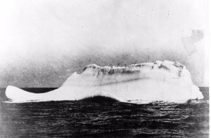 This berg is believed to be the one that Sank Titanic as it had some red paint marks across it and was in the location of Titanics distress calls..