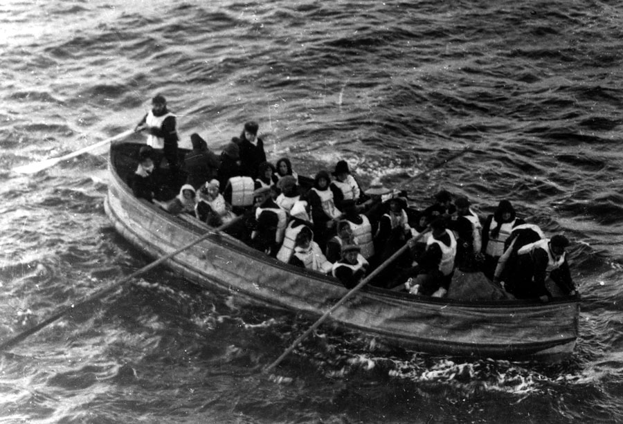 This image would be on the front page of nearly every newspaper in the world at the time. A collapsible canvas lifeboat is just about to be collected by Carpathia to bring some sense of joy to a horrific event.