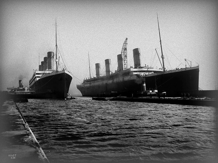 Titanic and Olympic were very similar. Could they have been switched for an insurance scam?
