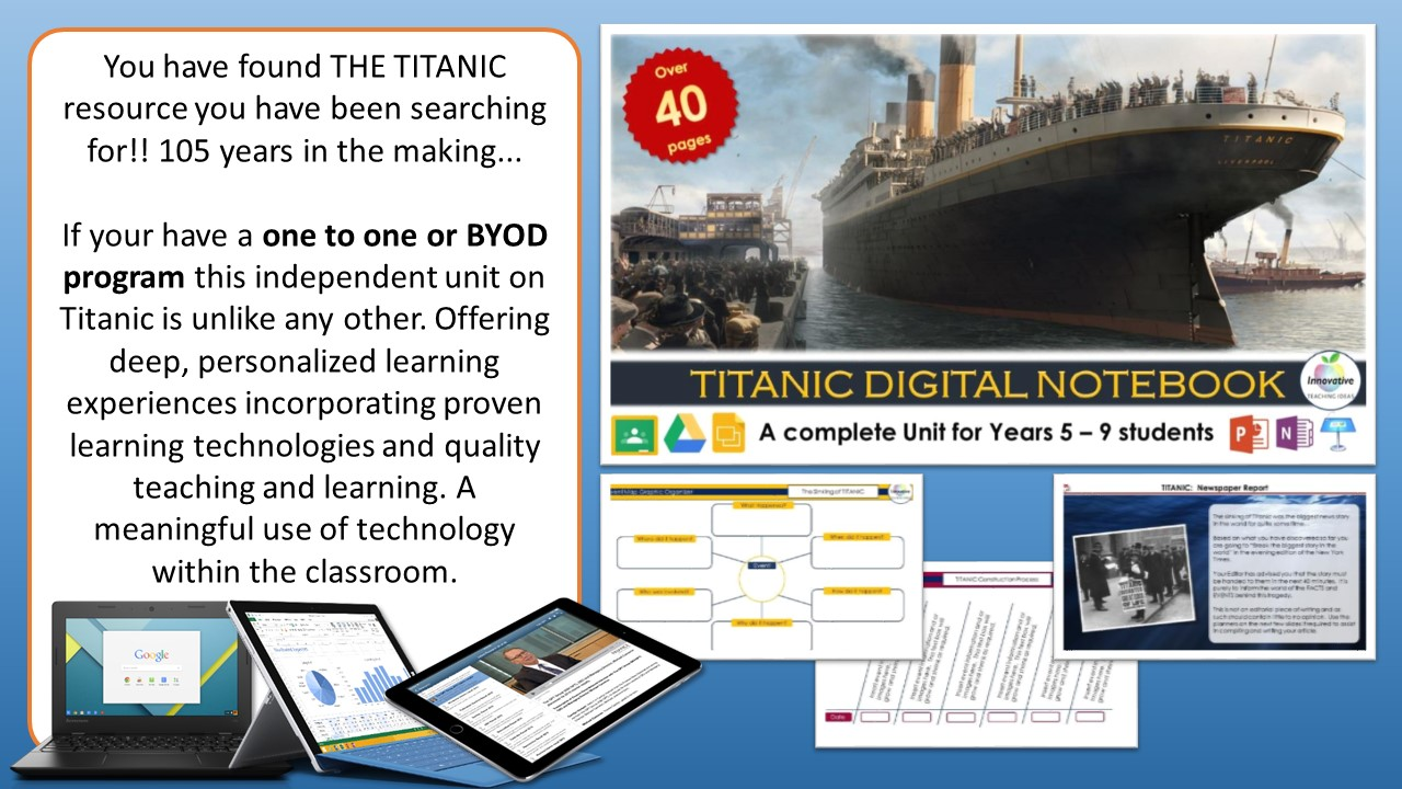 Titanic Teaching Ideas — Ultimate Titanic