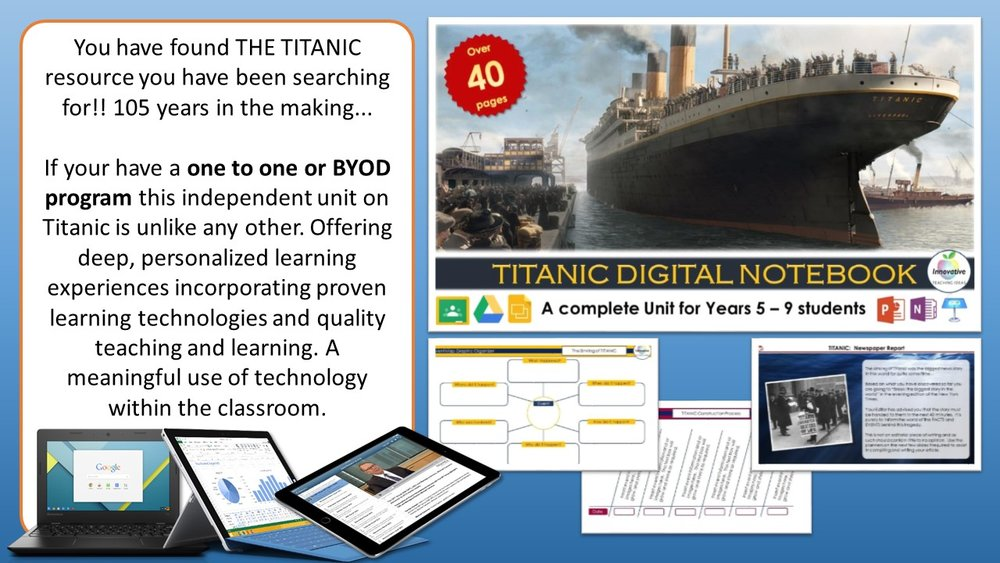 Titanic Teaching Ideas — Ultimate Titanic