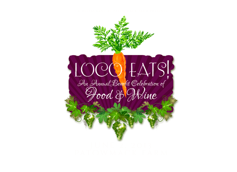 Event logo design for an annual benefit festival celebrating food & wine in Lovettsville, Virginia.