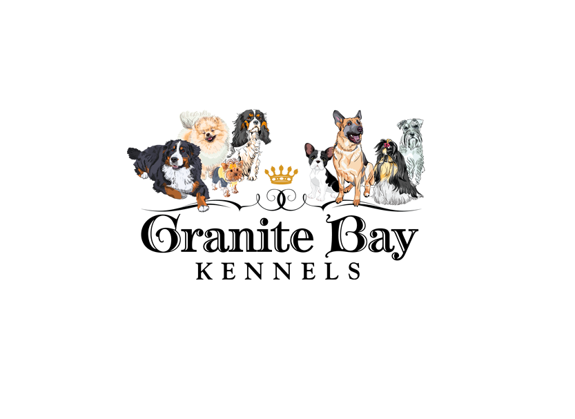 Logo design for Granite Bay Kennels, a local small business dog kennel in Granite Bay, California.
