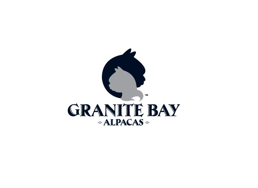 Logo design for Granite Bay Alpacas, a royal pedigree alpaca farm in Granite Bay, California.