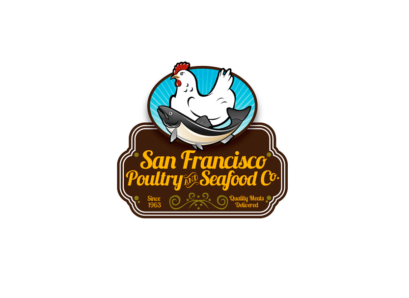 Logo design for San Francisco Poultry & Seafood Company.