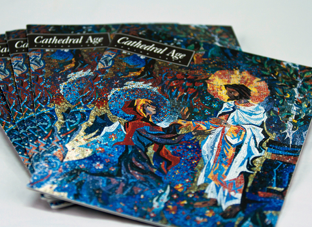 The Washington Cathedral's, Cathedral Age, a monthly magazine that we managed all aspects of design, layout and production.