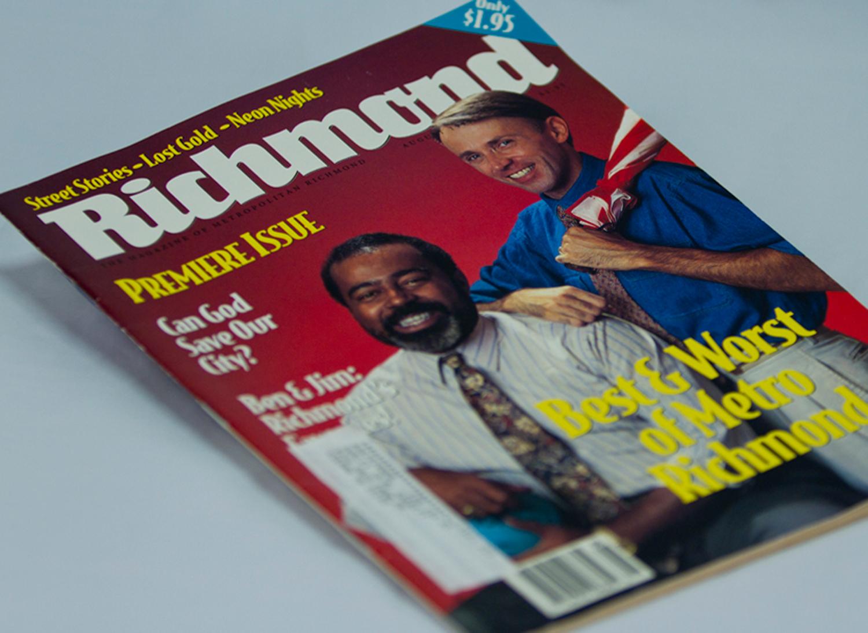 Richmond , a monthly city lifestyle magazine for the metropolitan city of Richmond, VA.