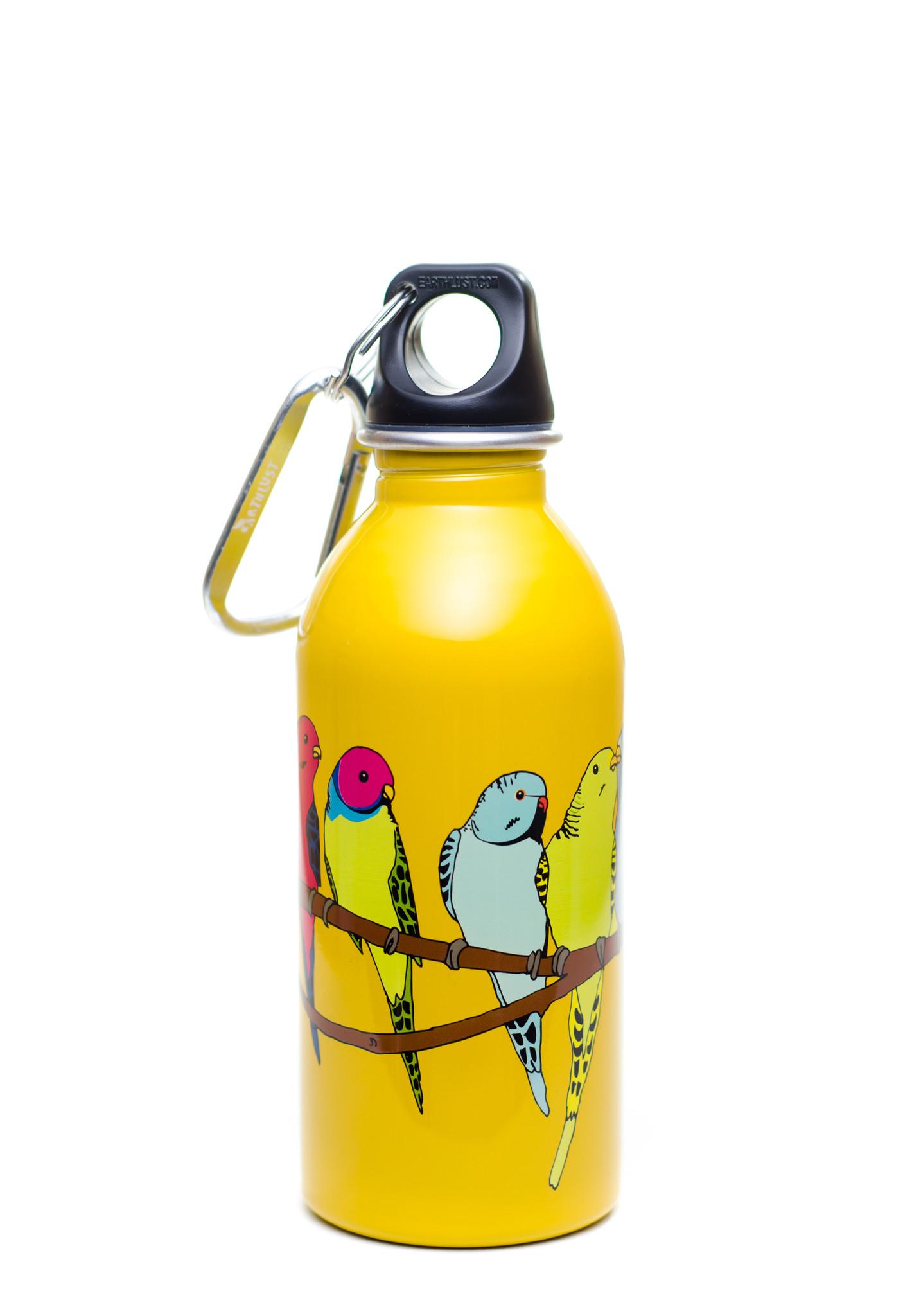 Parakeets design, 13 oz bottle.
