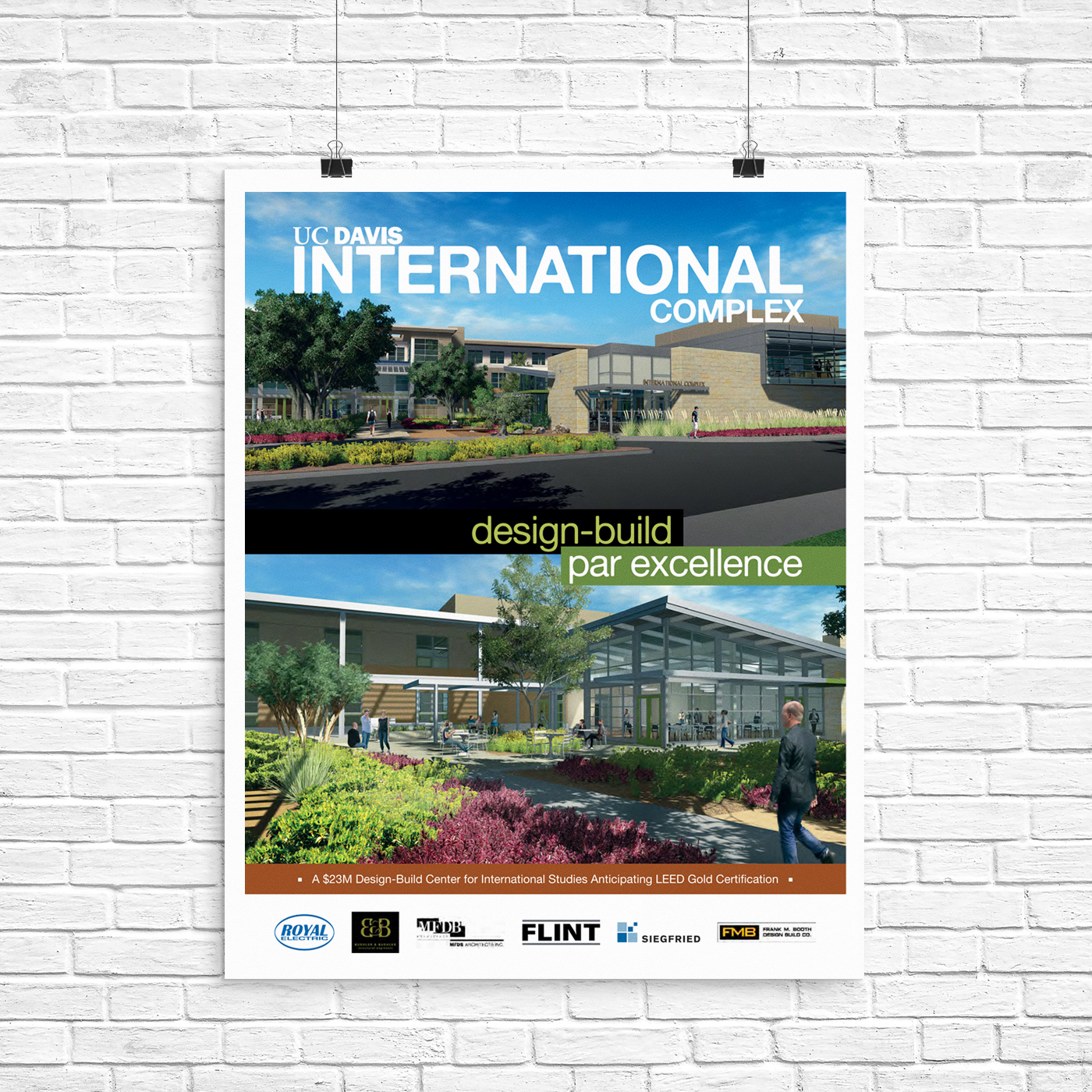 Full page advertisement for a design-build construction project at UC Davis featured in  Comstock's  Magazine, a premier monthly business publication in the California's Capital Region.