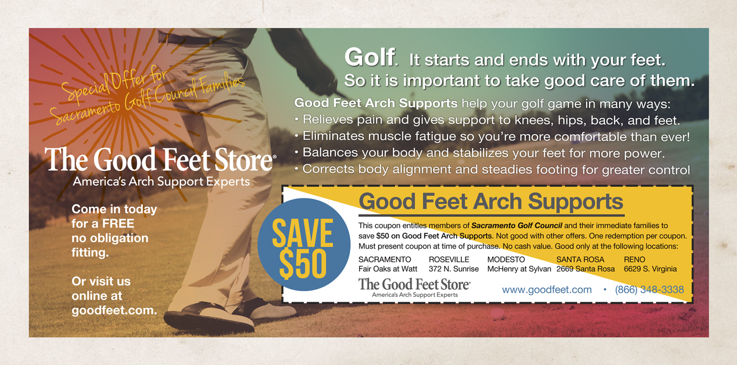 The Good Feet Store - Promotion Postcard (front)