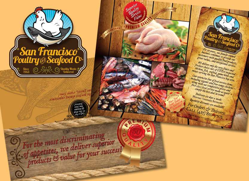 San Francisco Poultry & Seafood Company - Promotional Postcard