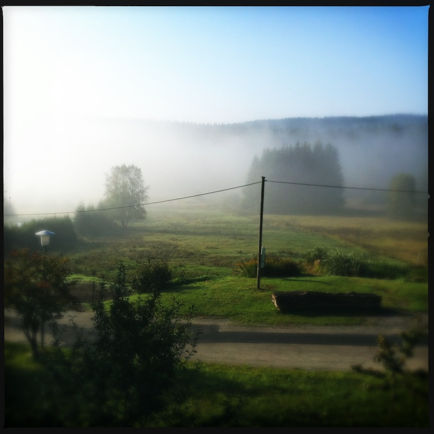 View from our window in the early morning.  Click to enlarge.