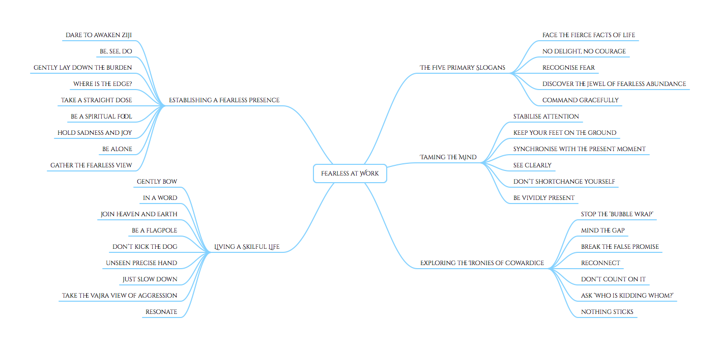 Fearless at Work - content mind map