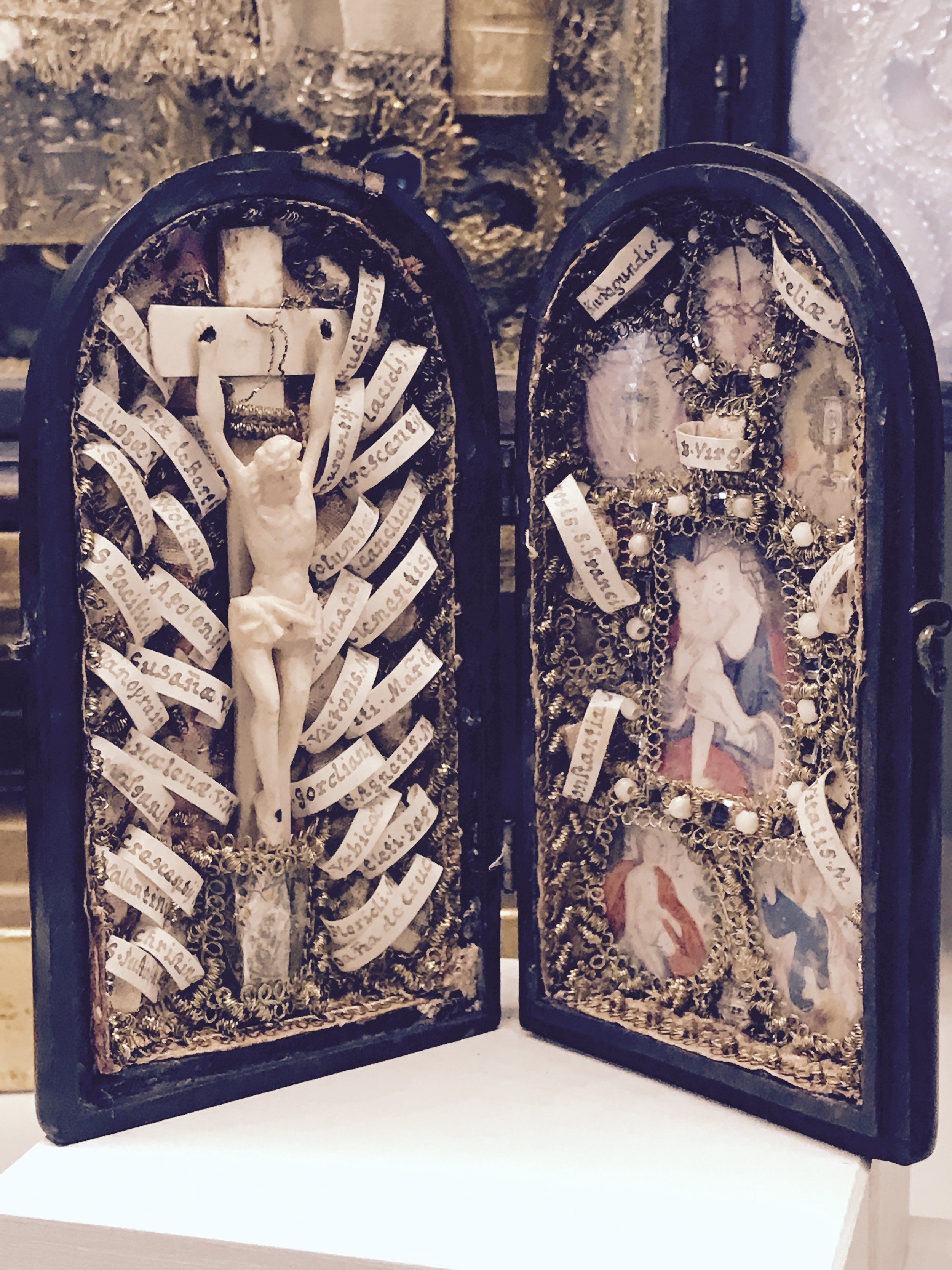 Relics on display in the abbey