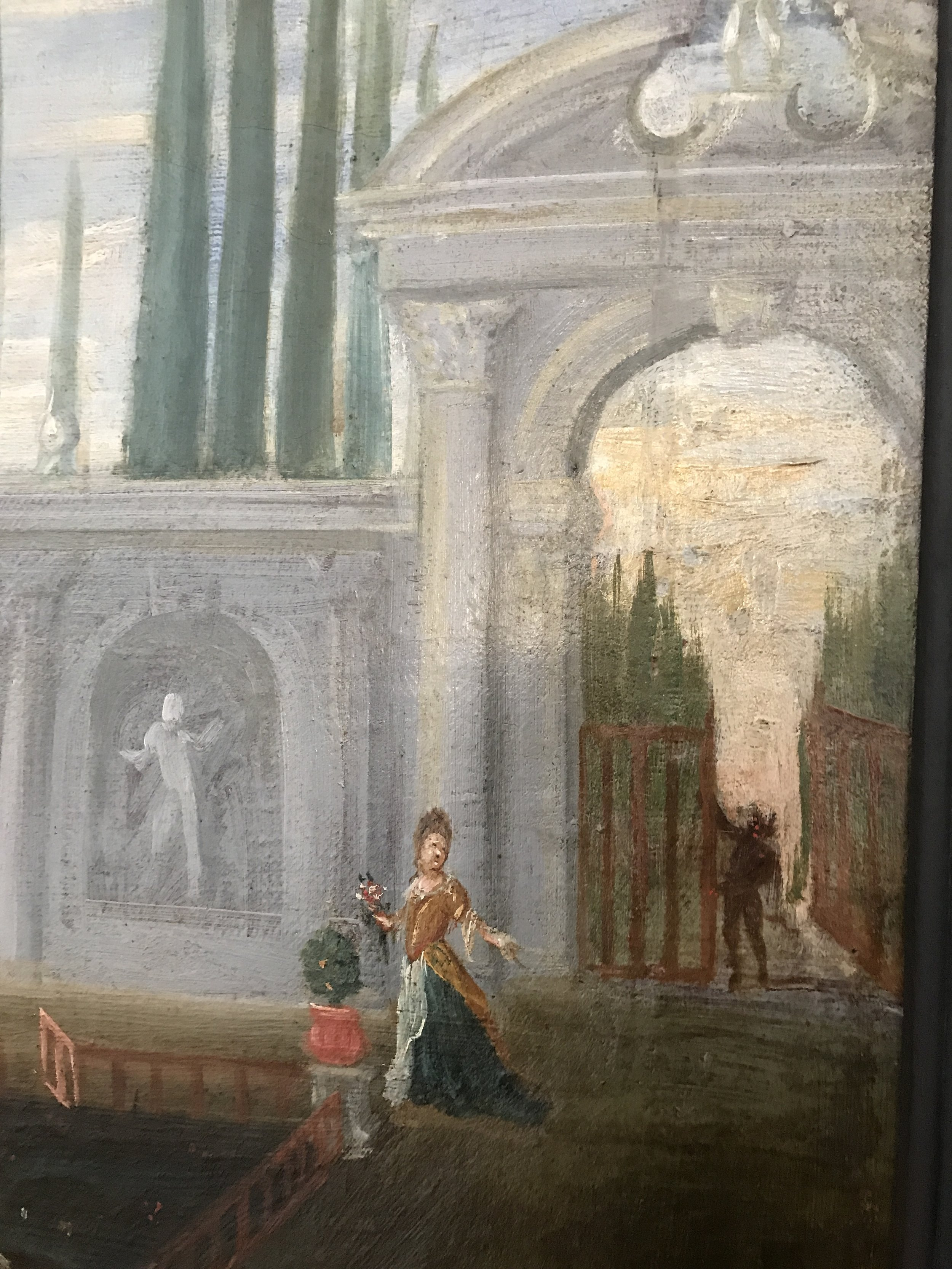 Detail: the devil looking for entrance into the garden