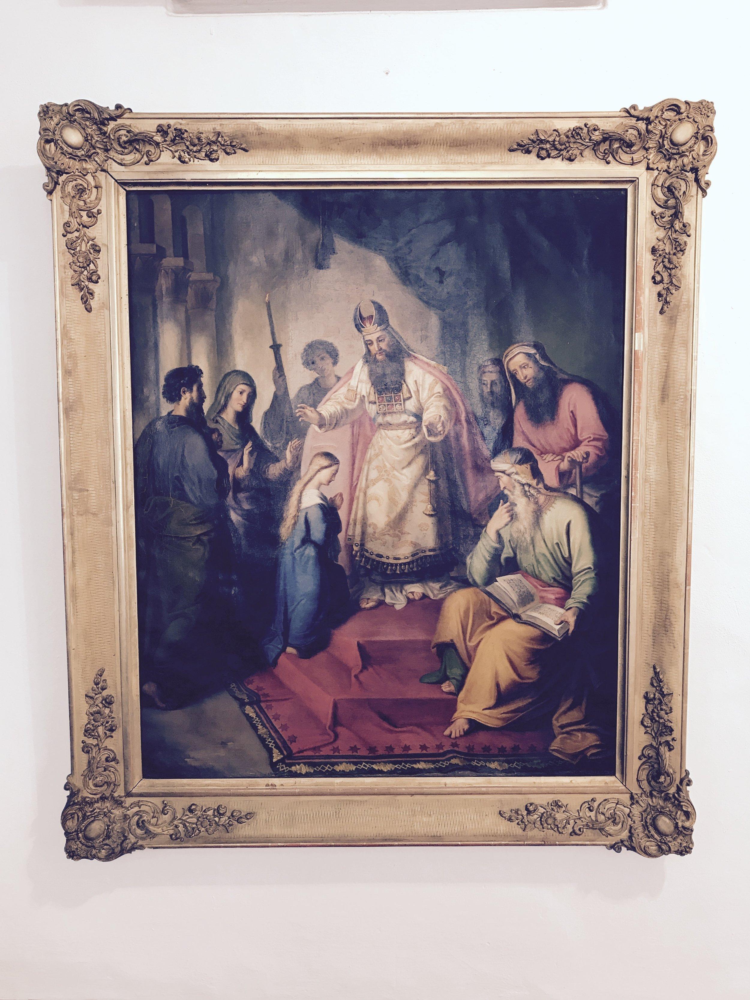 King David wearing his ritual Ephod