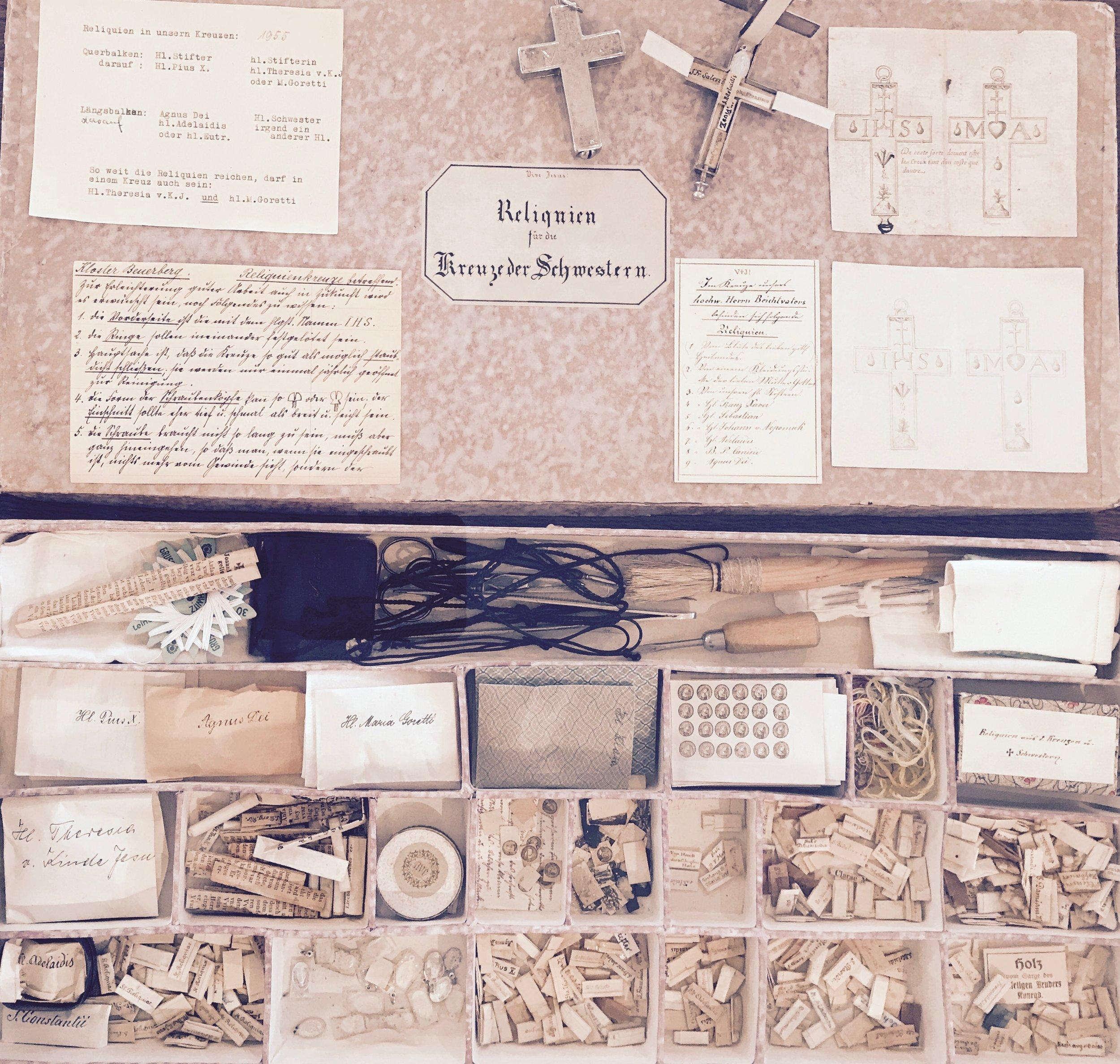 these relics were reserved for the crosses worn by the nuns