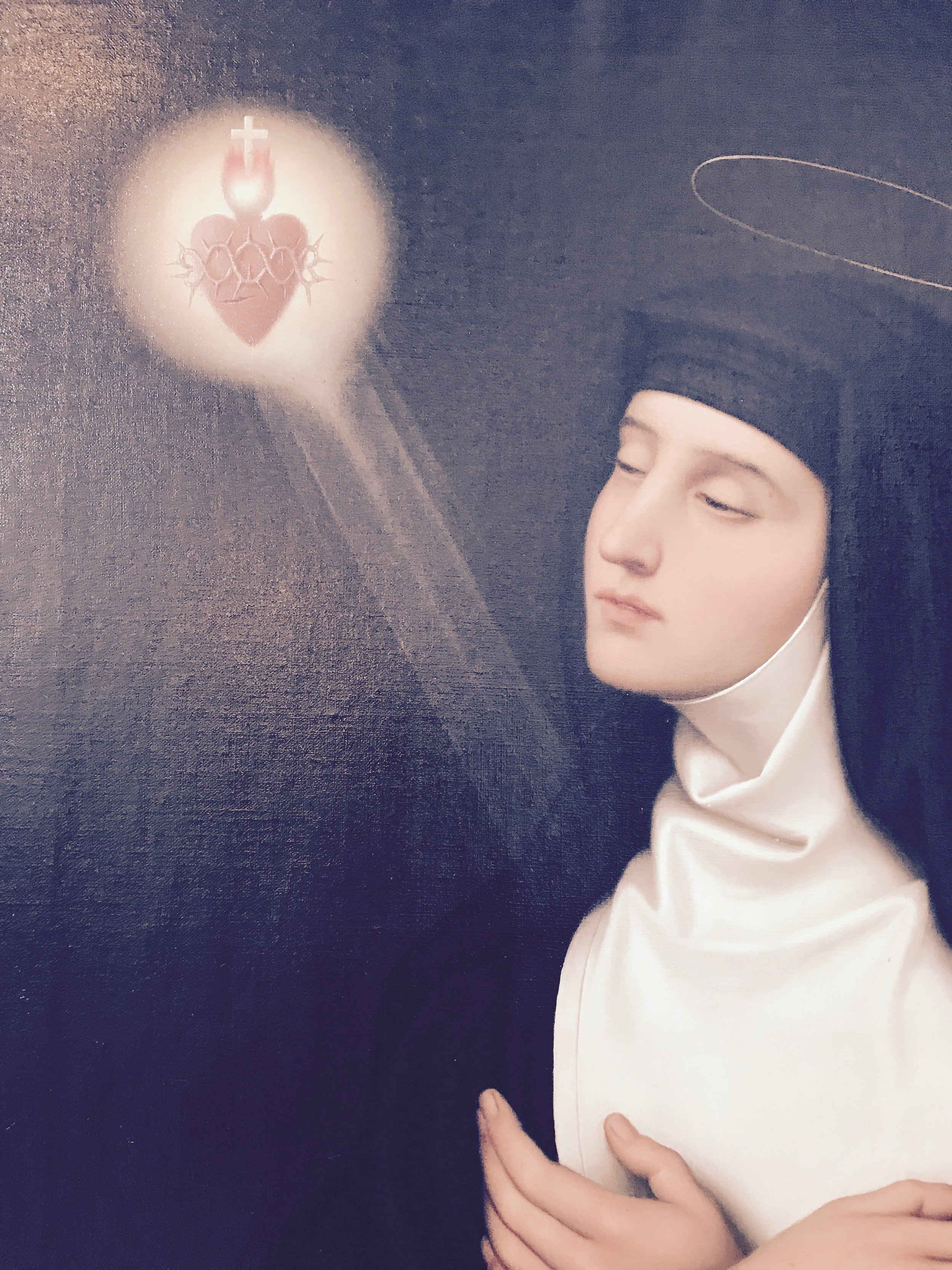 the heart of Christ revealing itself to a female mystic