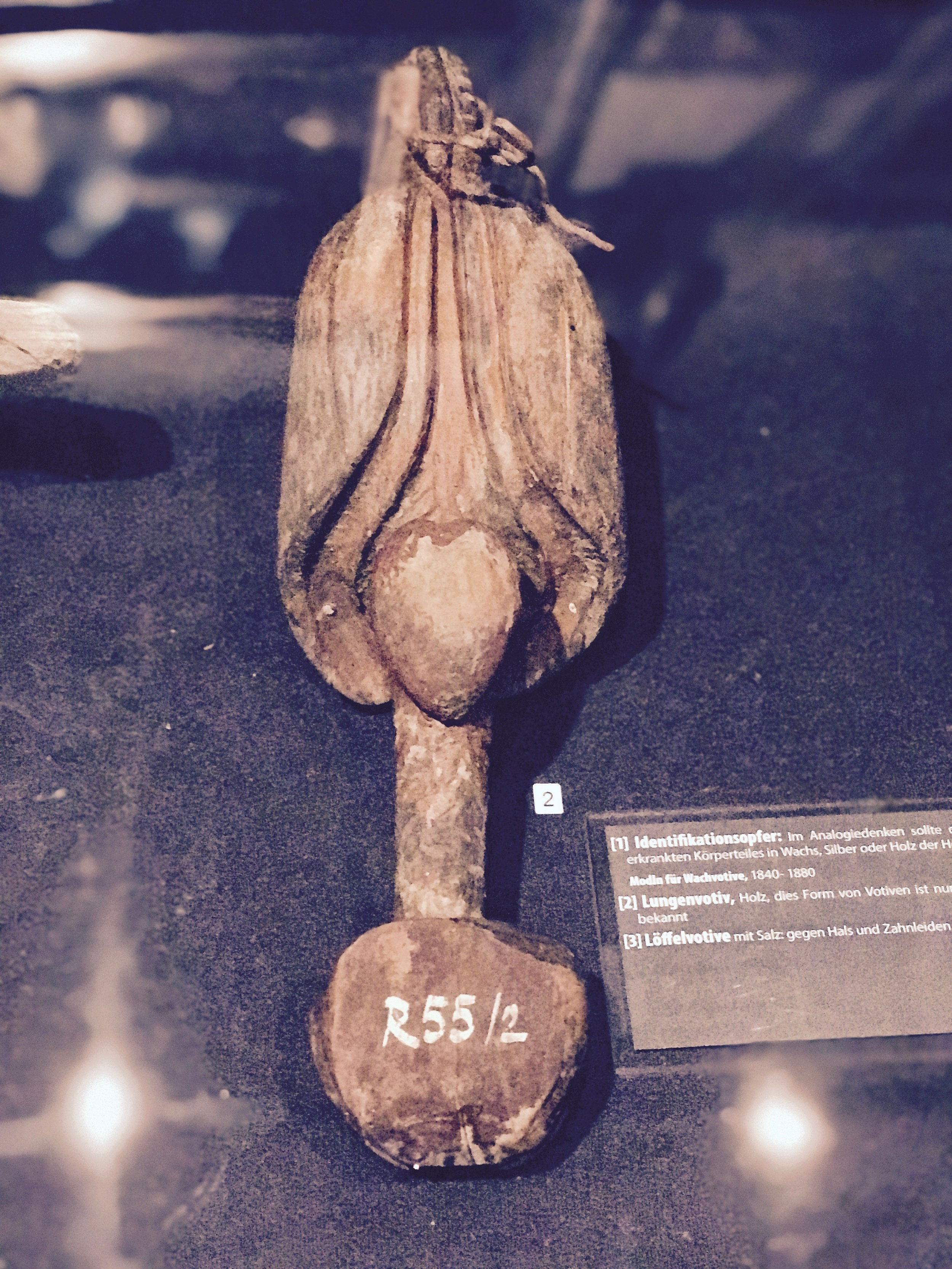 wooden lung as votive offering