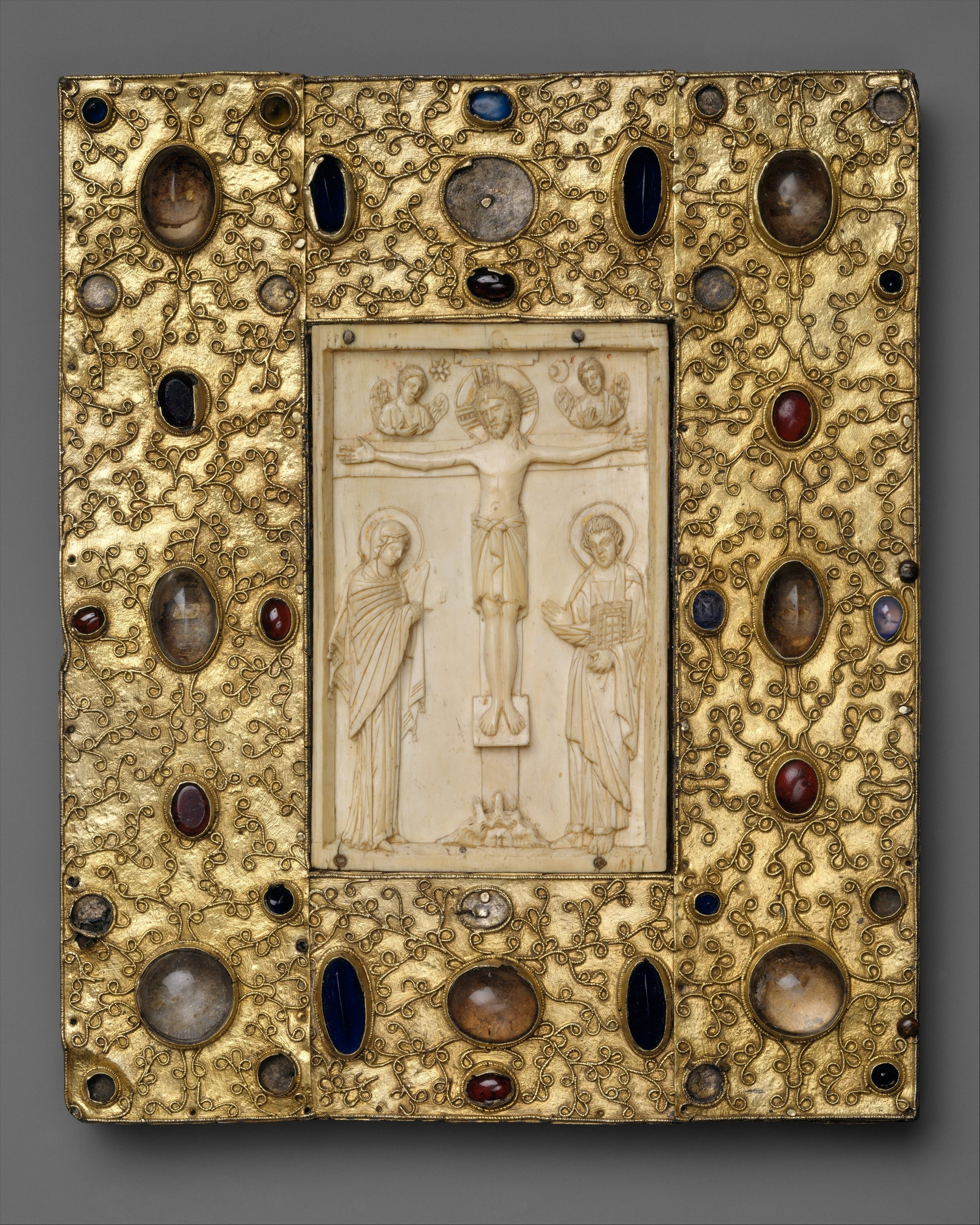 Met Museum  |Book Cover with Byzantine Icon of the Crucifixion,1058 CE