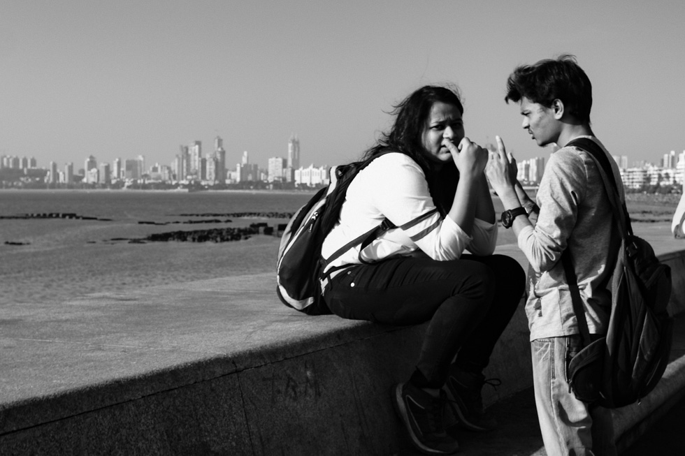 Lovebirds at Marine Drive getting close take three