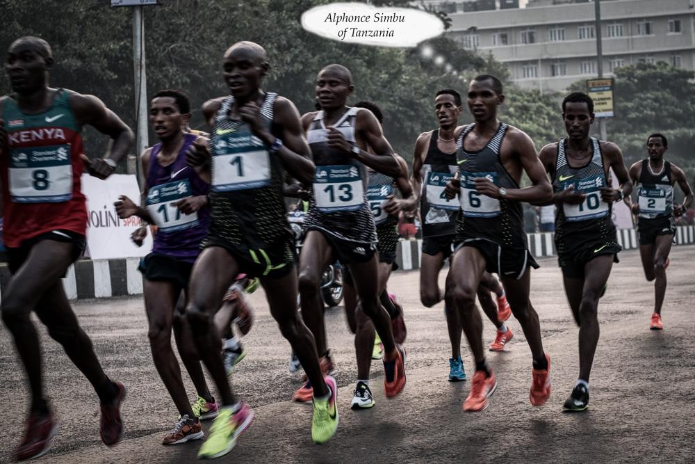 Winner in the Mumbai Marathon 2017