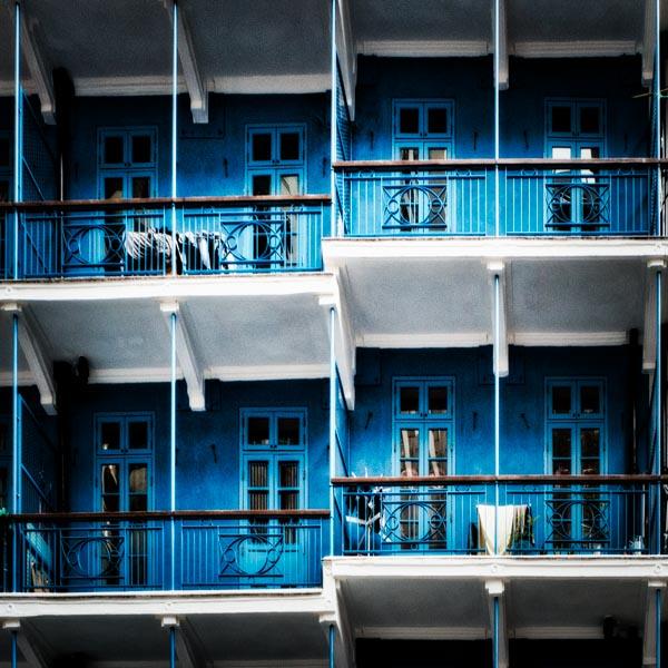 Wan Chai as blue as it's get