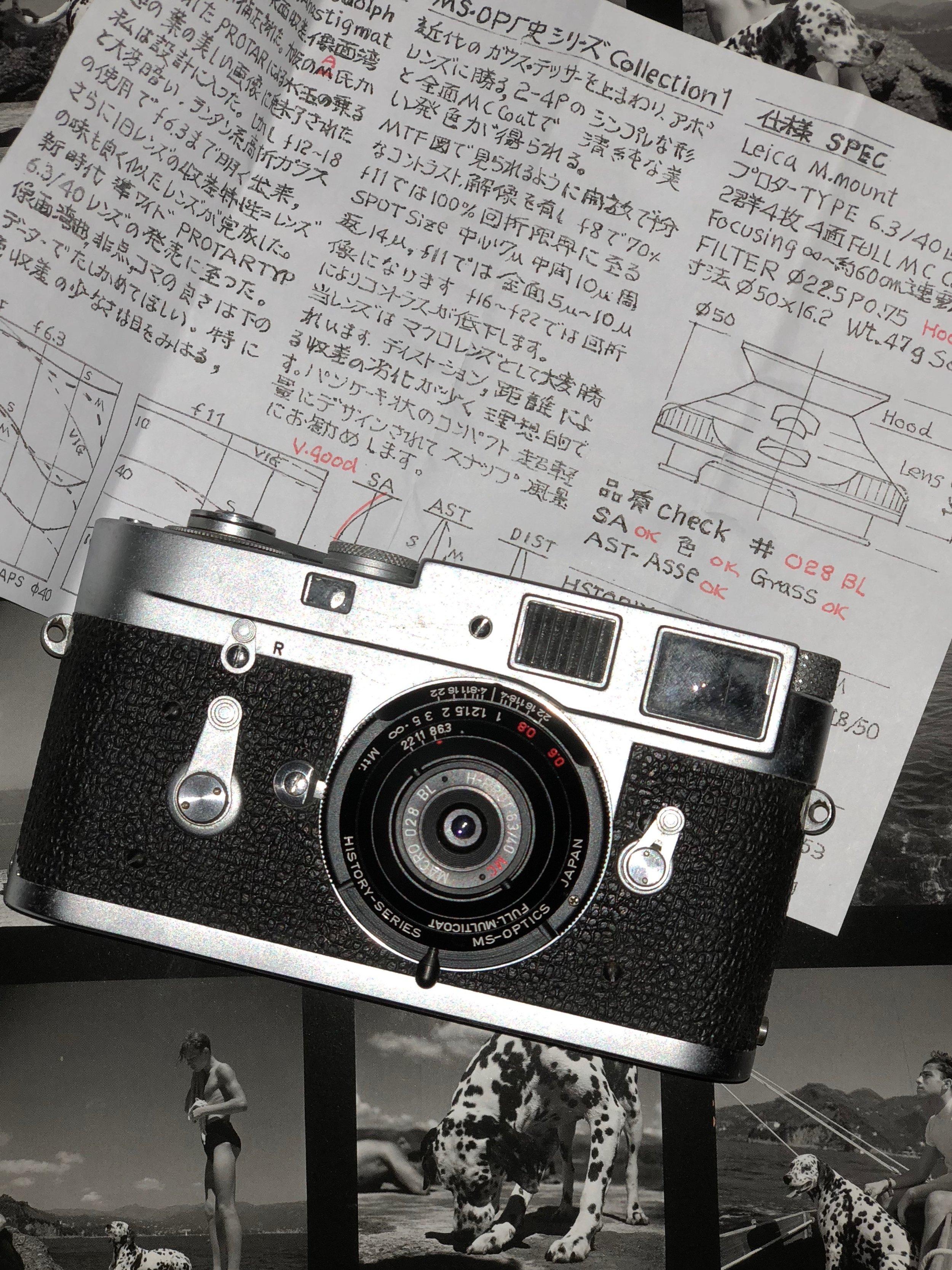 MS Optics Historica Prot 40mm f/6.3