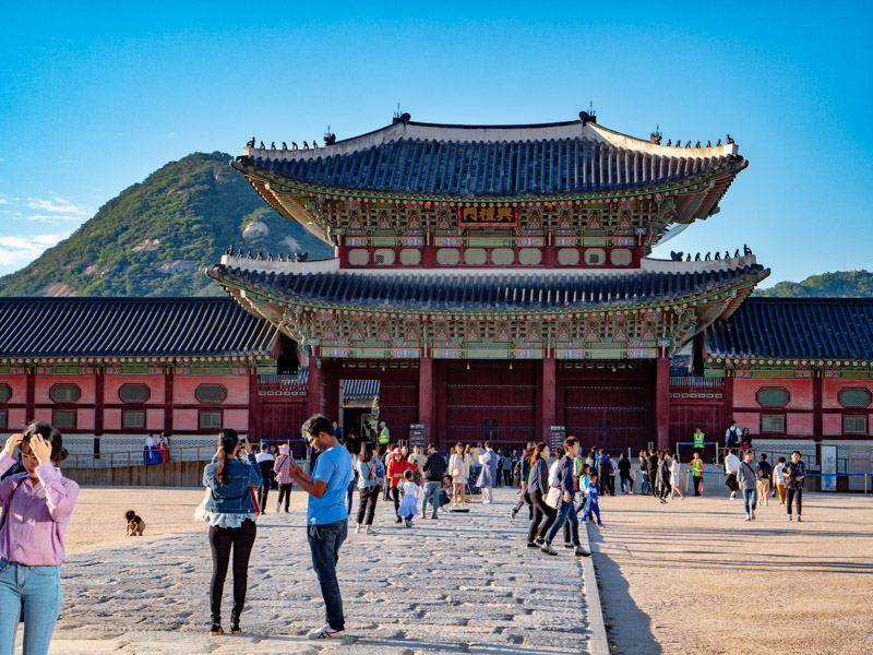 Gyeongbokgung Palace. The Royal Palace of Joseon settled at the heart of Seoul