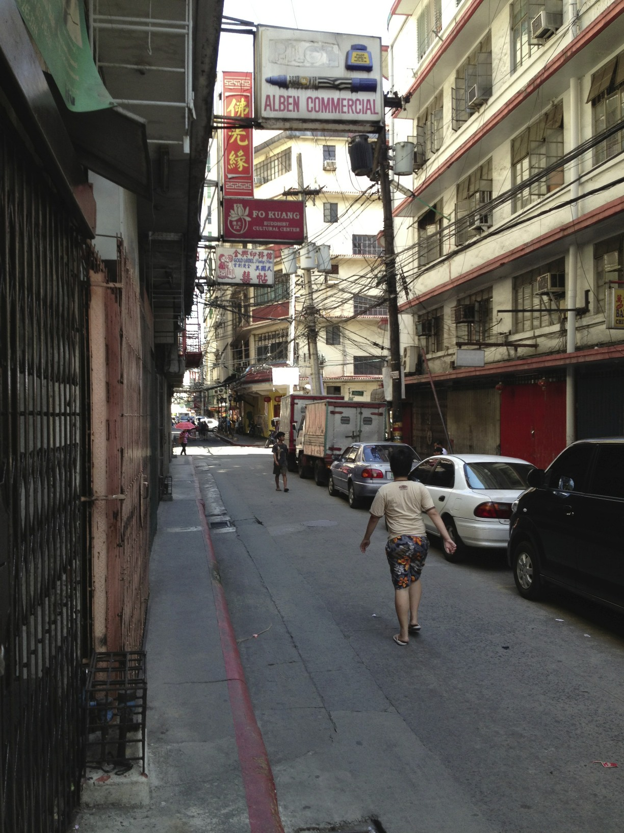 Quiet back street, Chinatown Manila, on Palm Sunday