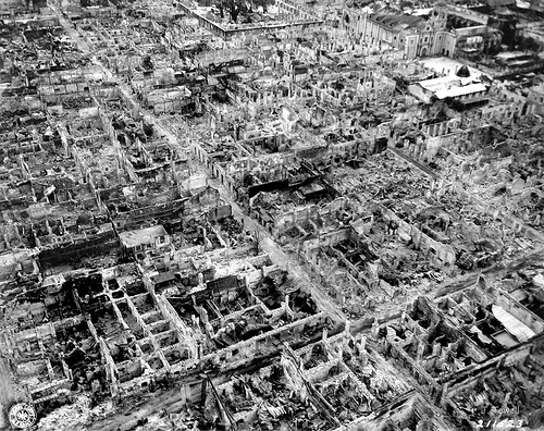 Intramuros, late February 1945, showing devastation