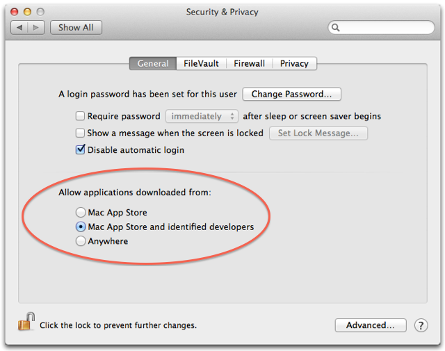 "Look in System Preferences when you want to set Gatekeeper's ""paranoia"" level"