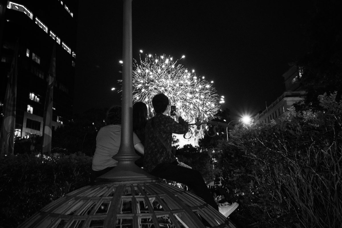 A quiet spot for some friends to watch the fire works.
