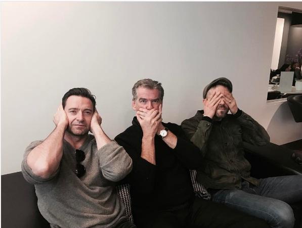התמונה פורסמה עם הכיתוב: Wolvie, Bond, Wade