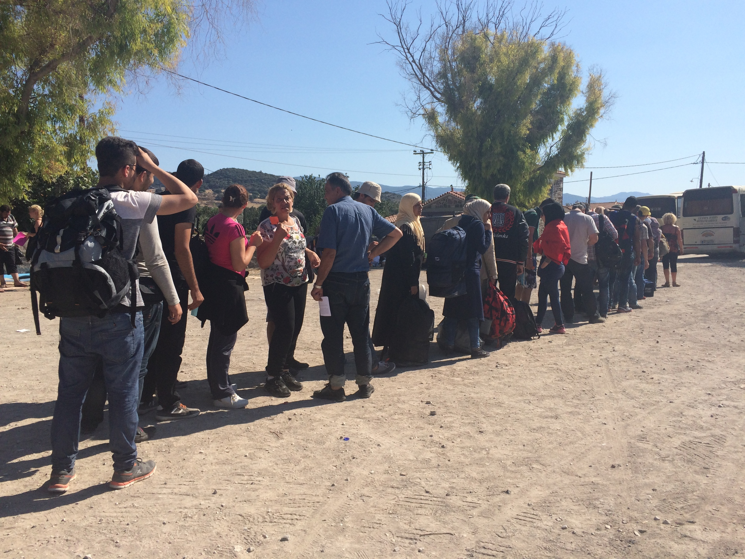 We taught the refugees the very British skill of queueing.