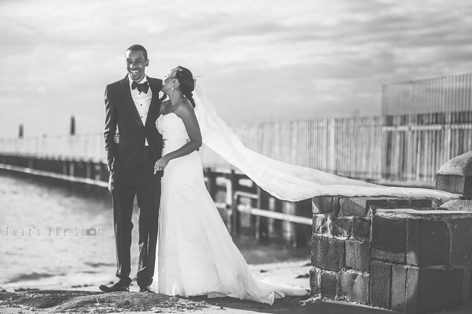 Wedding shoot at beach near Brighton Savoy reception. Photographyby Melbourne Wedding Photographer.