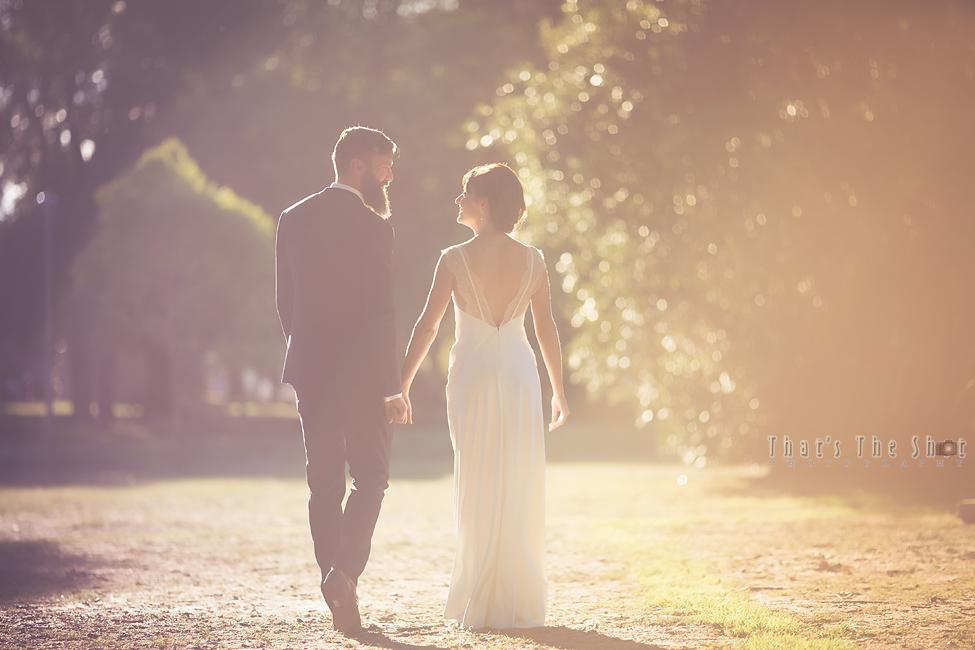 Wedding couple at Edinburgh Gardens Fitzroy