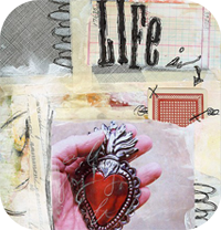 Life is Red Art Journal Page